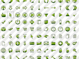 Green Jelly Icons