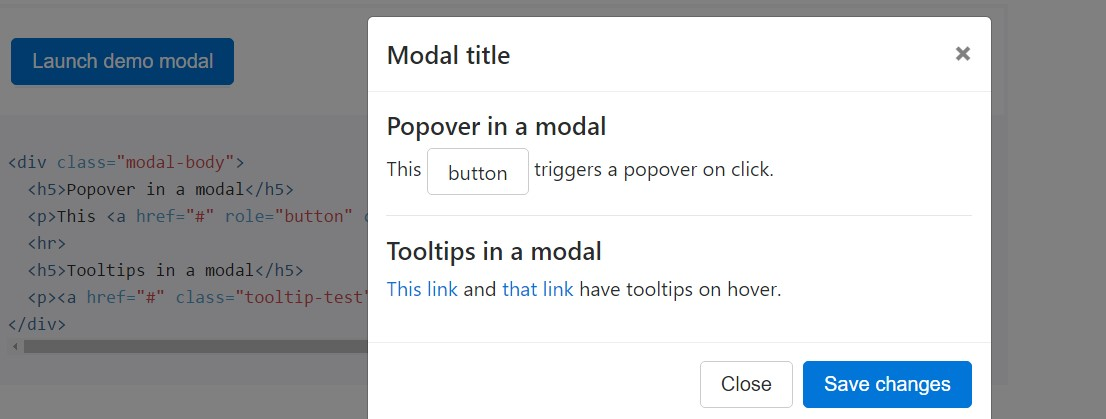 Tooltips and popovers