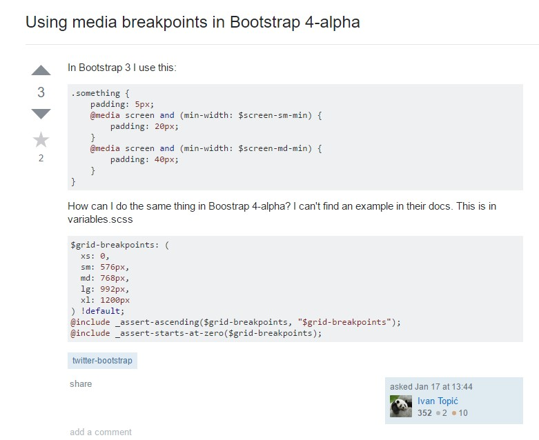 Bootstrap Breakpoints  problem