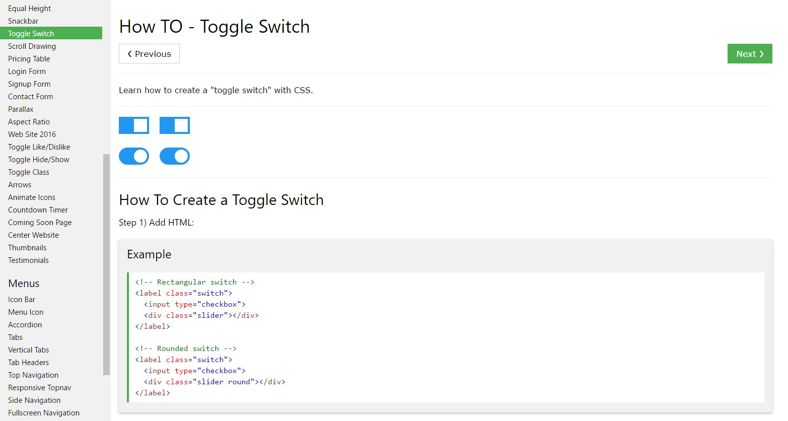 The best ways to  establish Toggle Switch