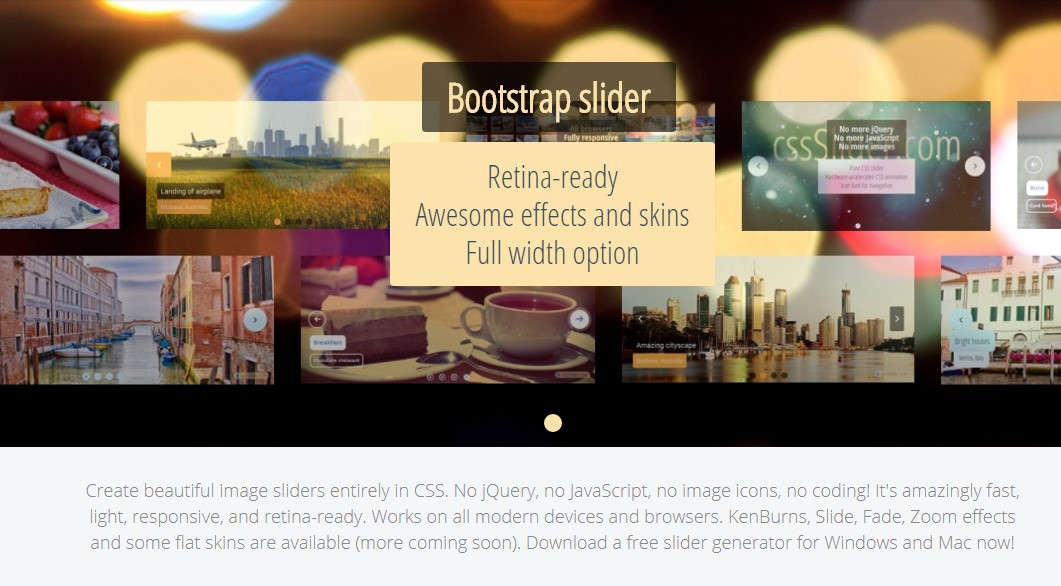 Bootstrap Multiple Image Slider