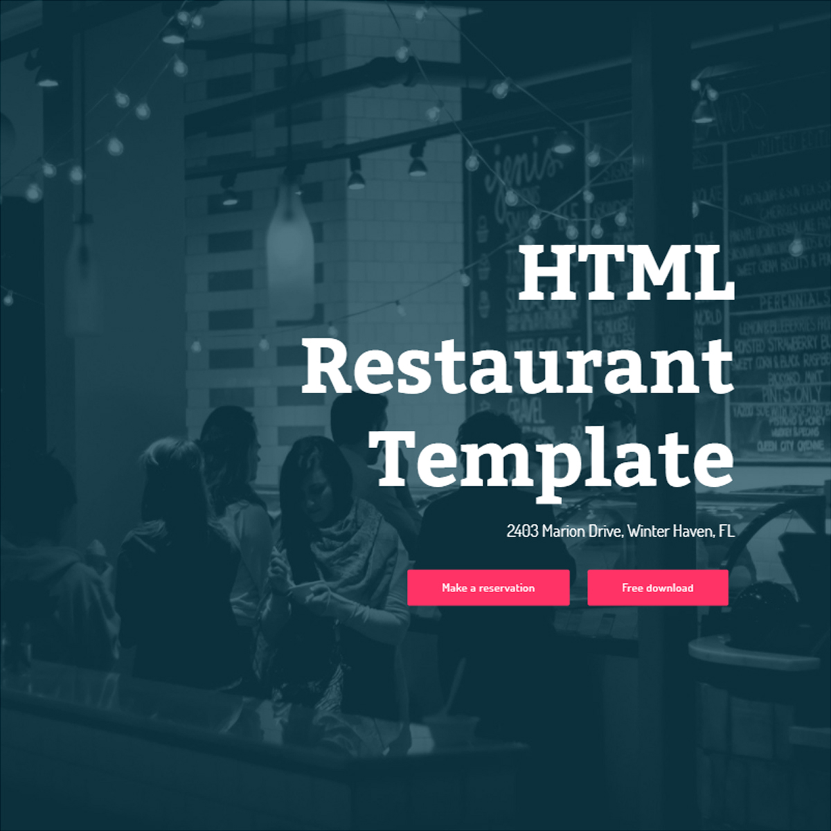 Free Download Bootstrap Restaurant Templates