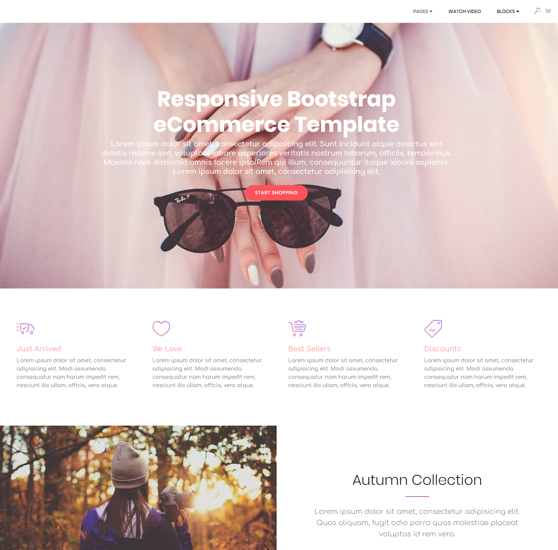 Free Bootstrap Responsive eCommerce Themes