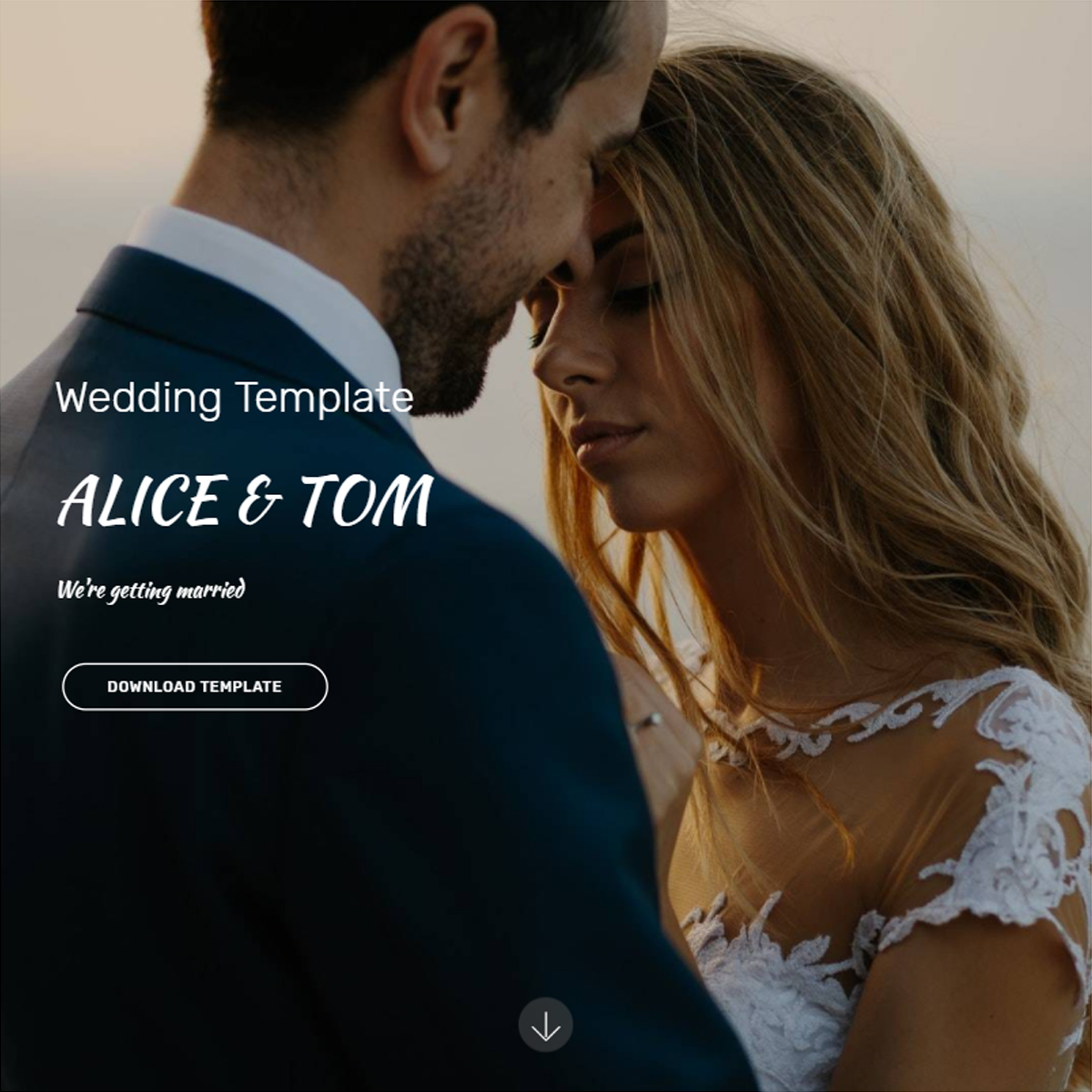 CSS3 Bootstrap Wedding Templates