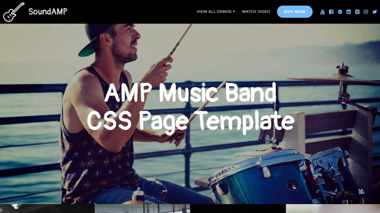 AMP Music Band Page Template