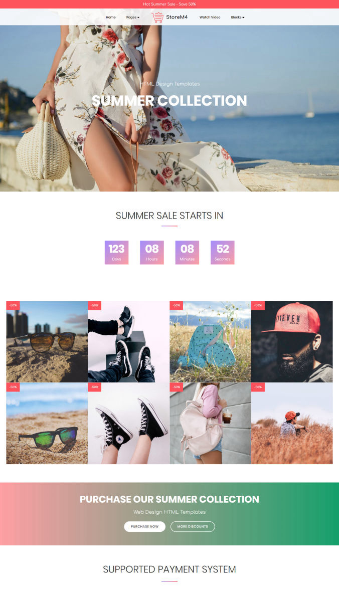 HTML Homepage Template