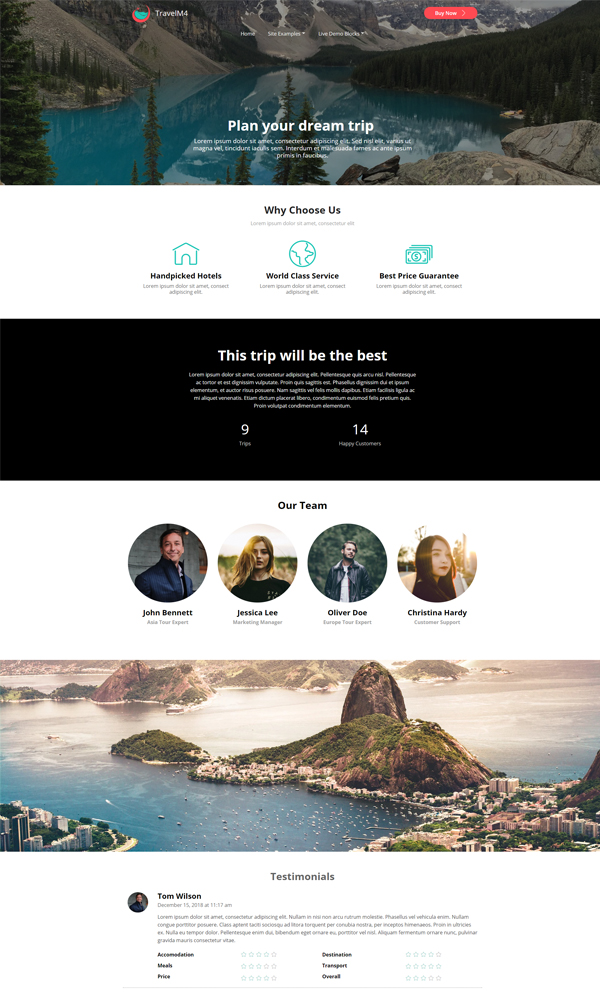 Travel Website Template Demo