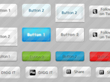 Light Glossy Button Templates