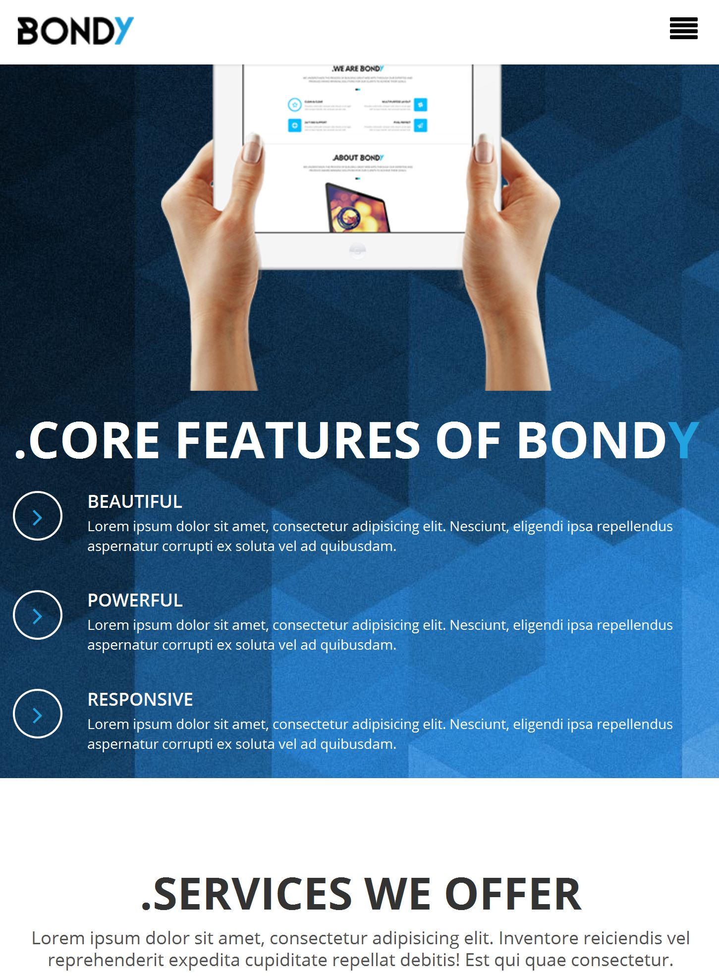 Bootstrap Homepage Template
