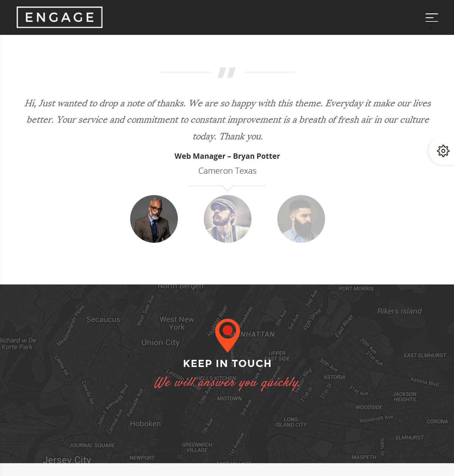 Bootstrap Mobile Template Free