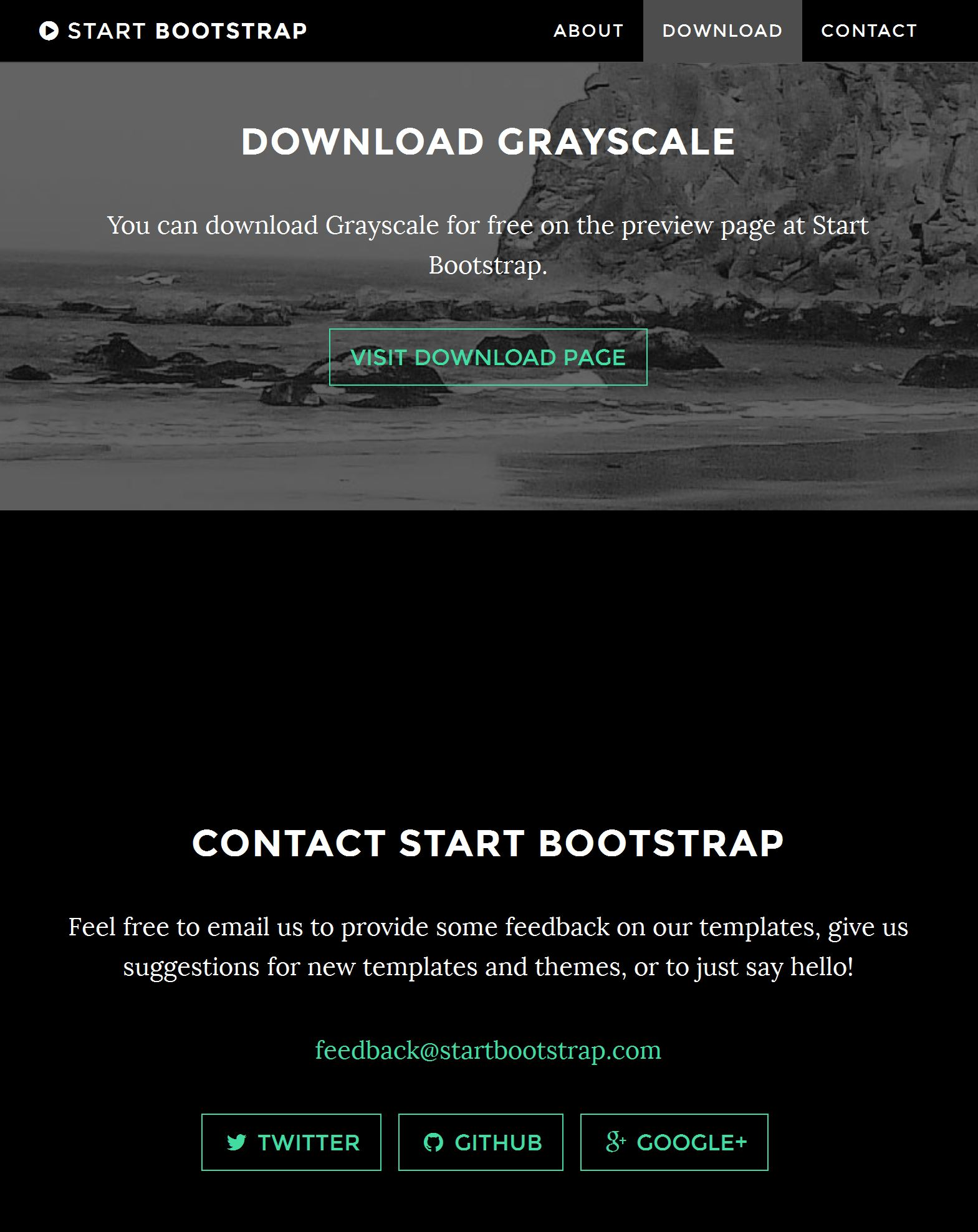 Bootstrap One Page Template Free