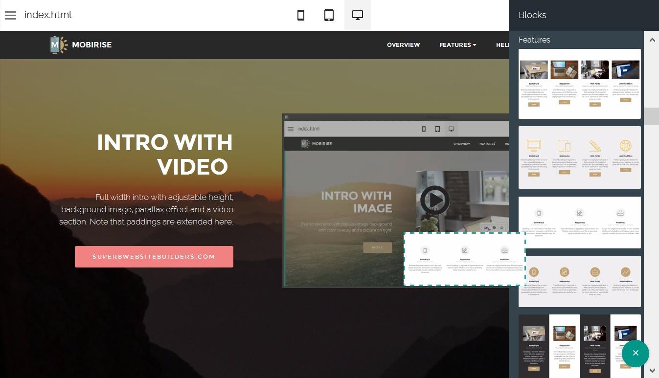 Drag and Drop Web Generator