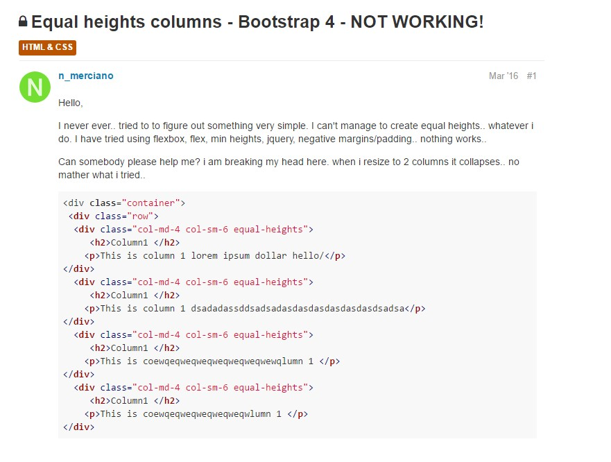 Issue with a heights of the Bootstrap columns