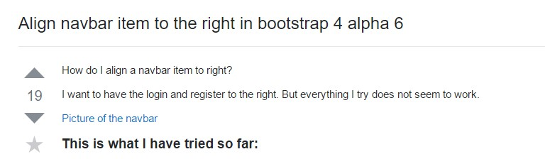 Align navbar item to the right in Bootstrap 4 alpha 6