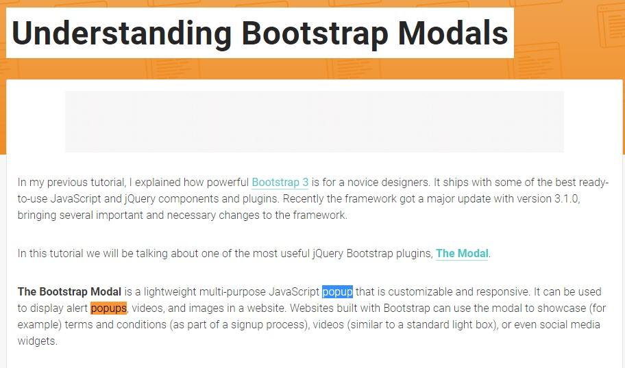 Yet another  helpful article  concerning Bootstrap Modal Popup