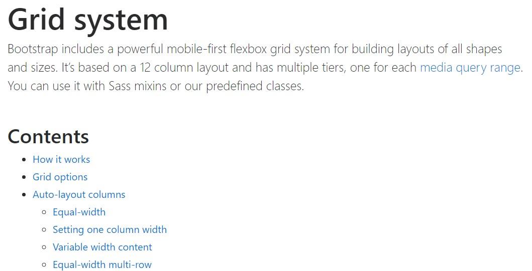 Bootstrap grid  formal  information