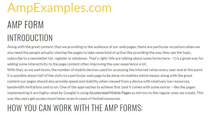 Why don't we  check AMP project and AMP-form  component?
