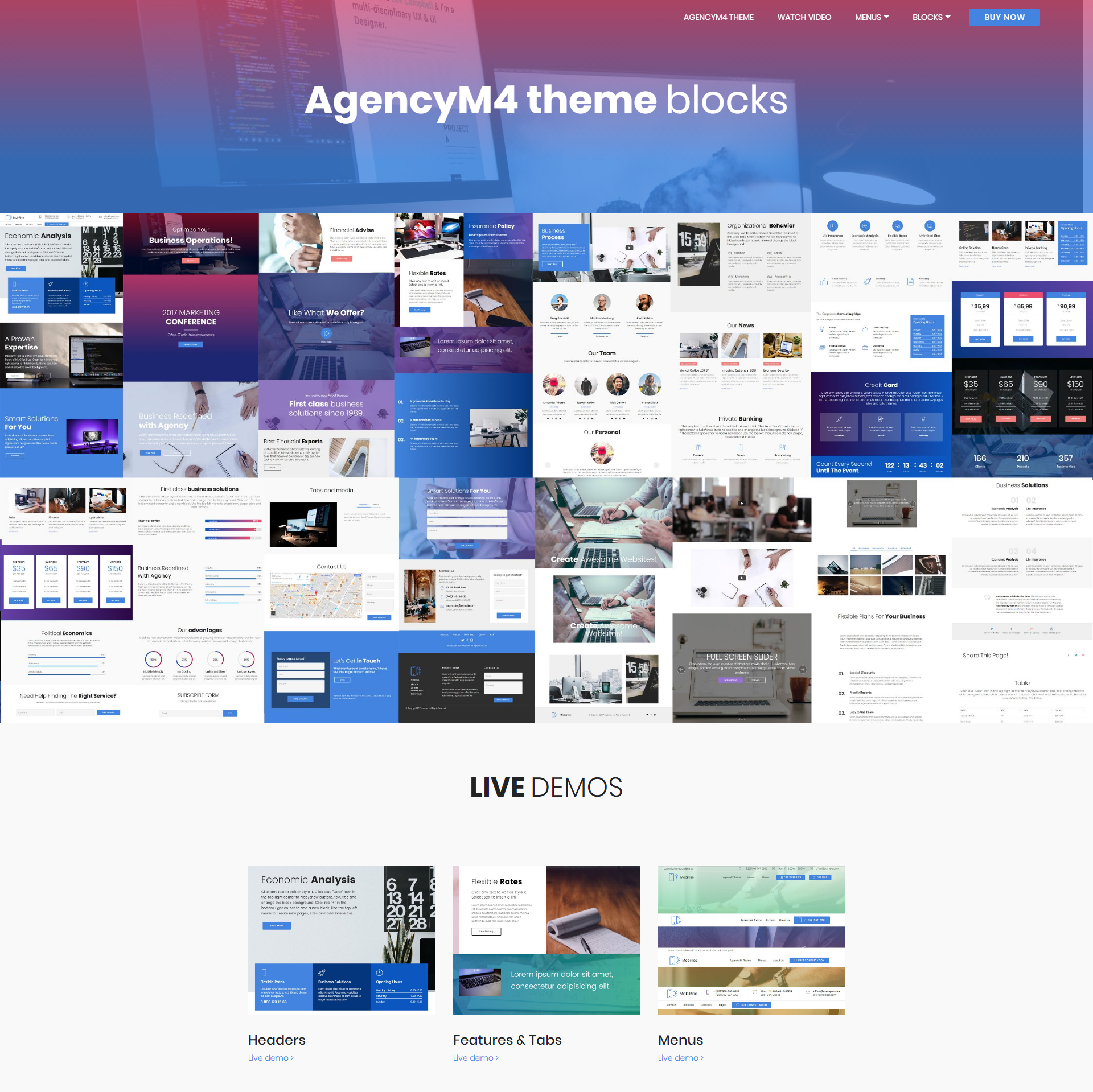 CSS3 Bootstrap AgencyM4 Themes