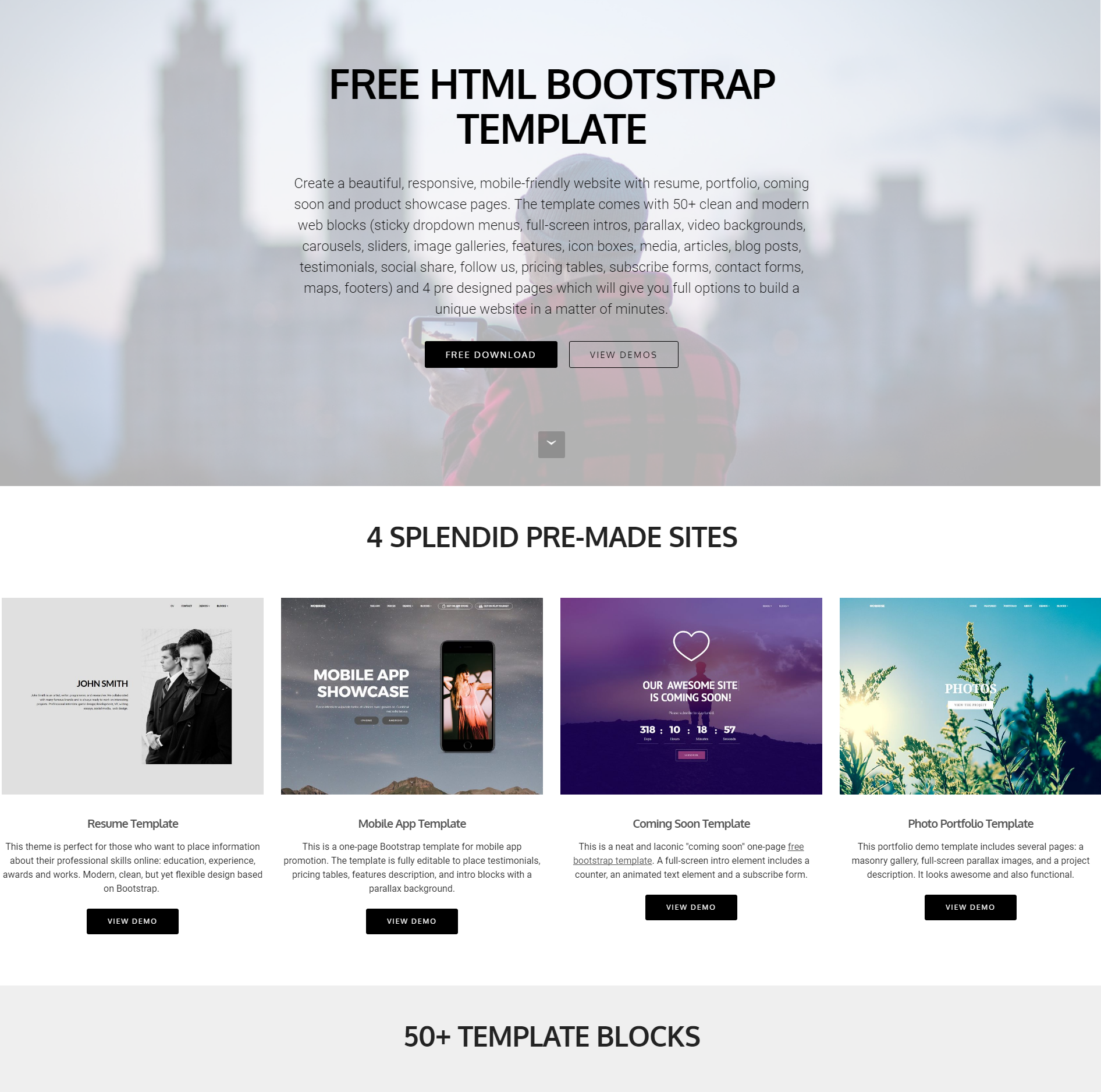 HTML5 Bootstrap Themes