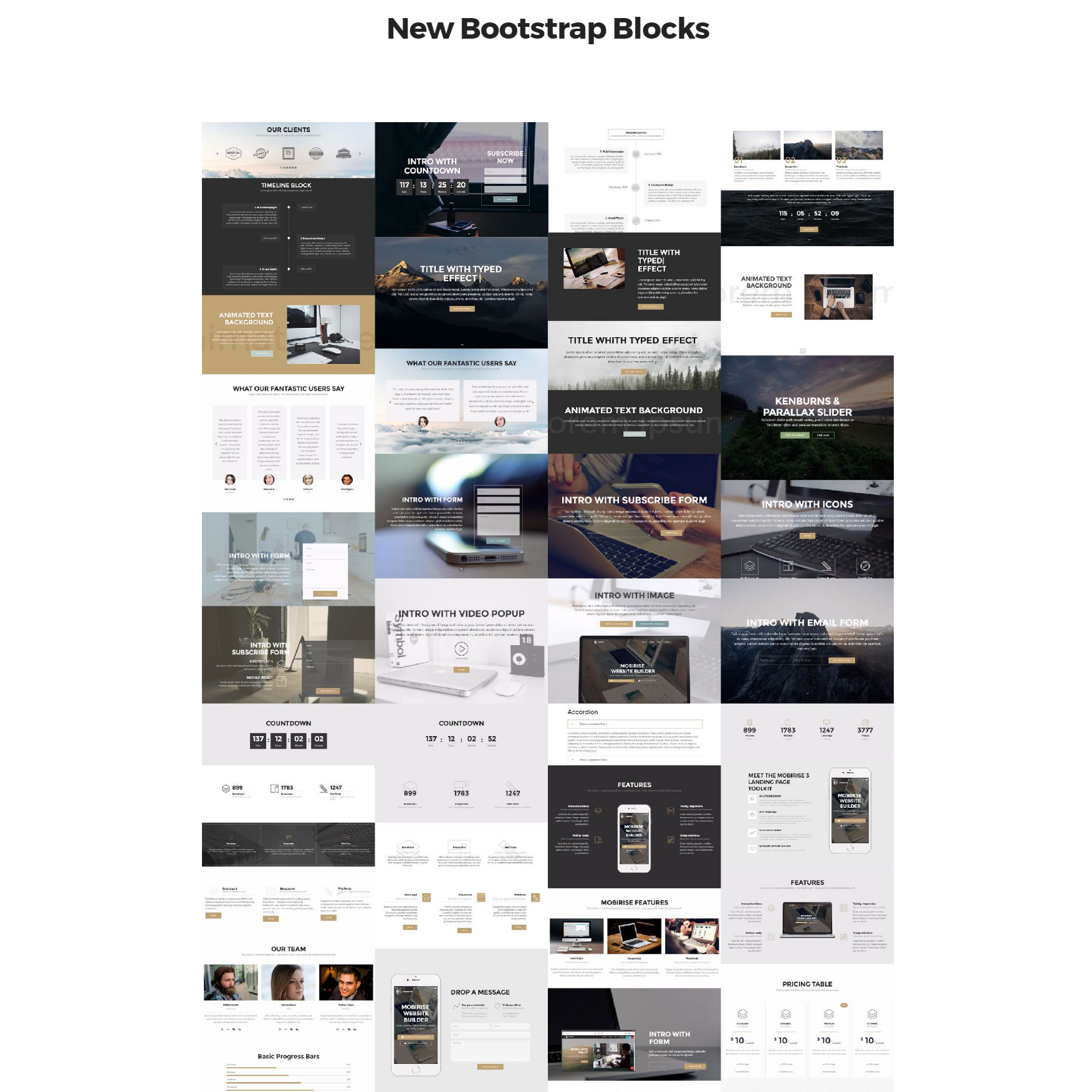 Free New Bootstrap Templates
