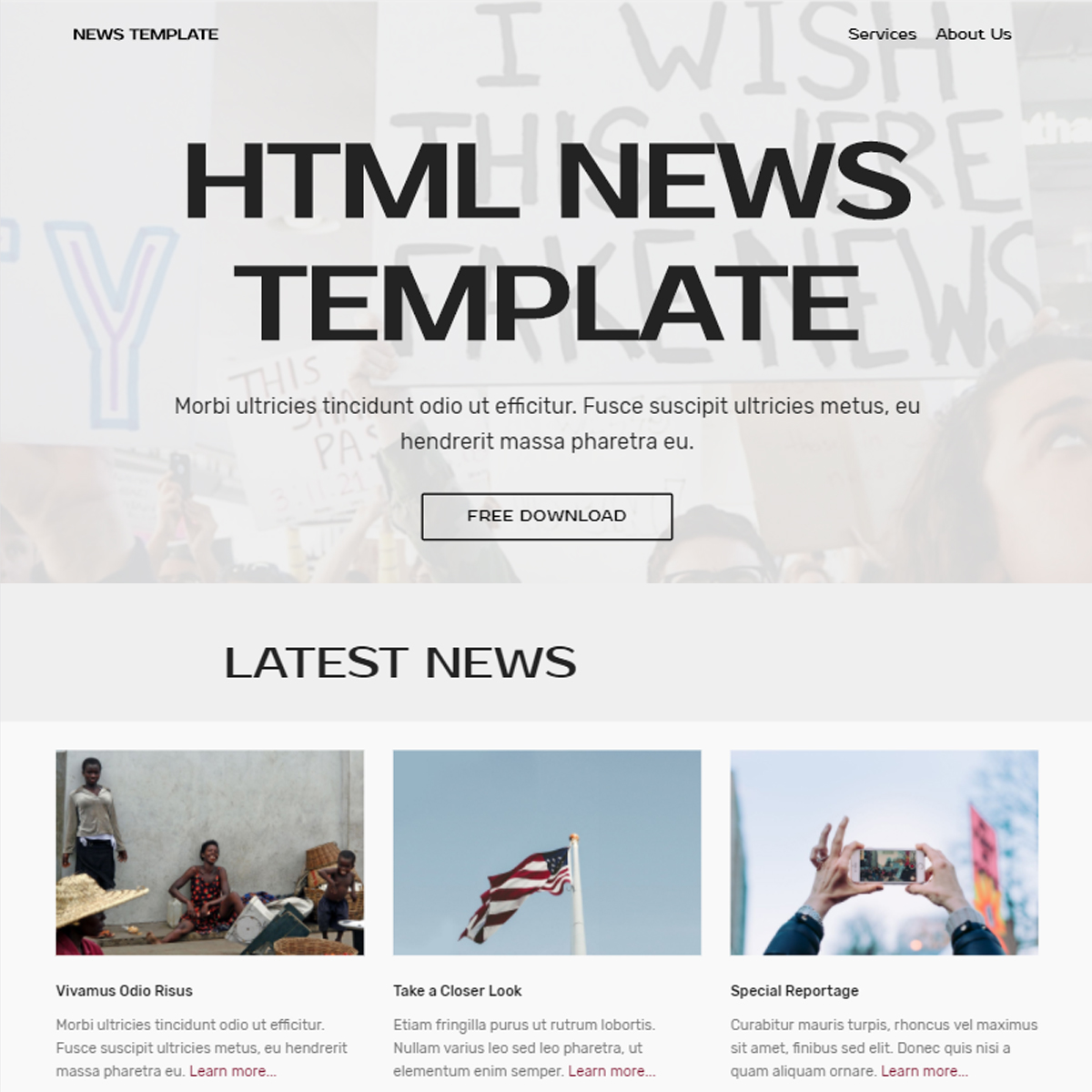 Free Bootstrap News Templates