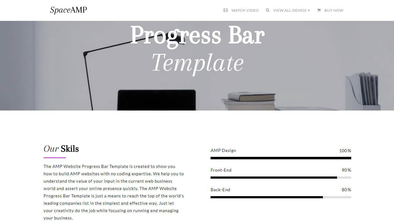AMP Website Progress Bar Template