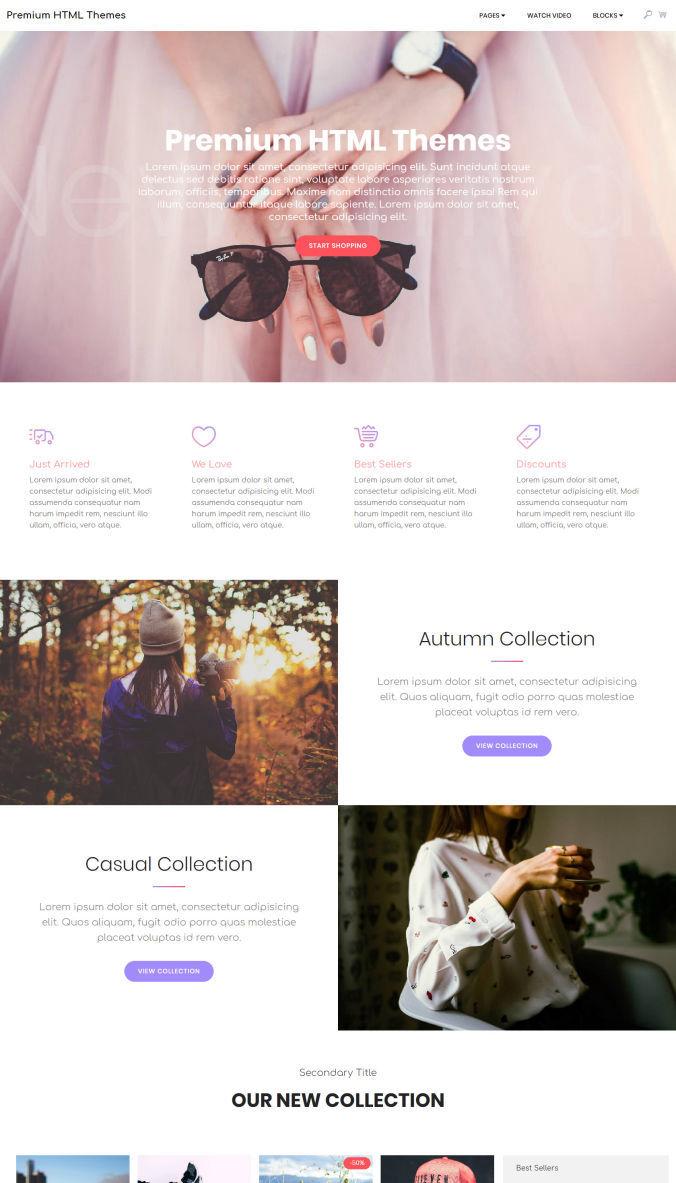 Simple Homepage Template