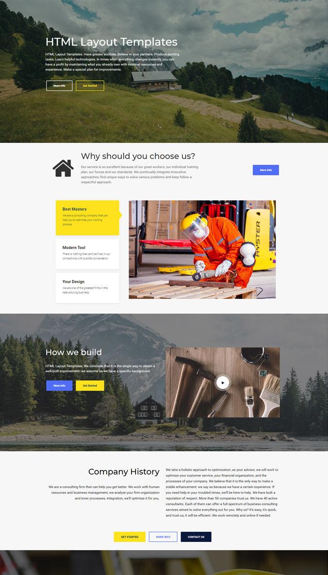 Responsive Homepage Template