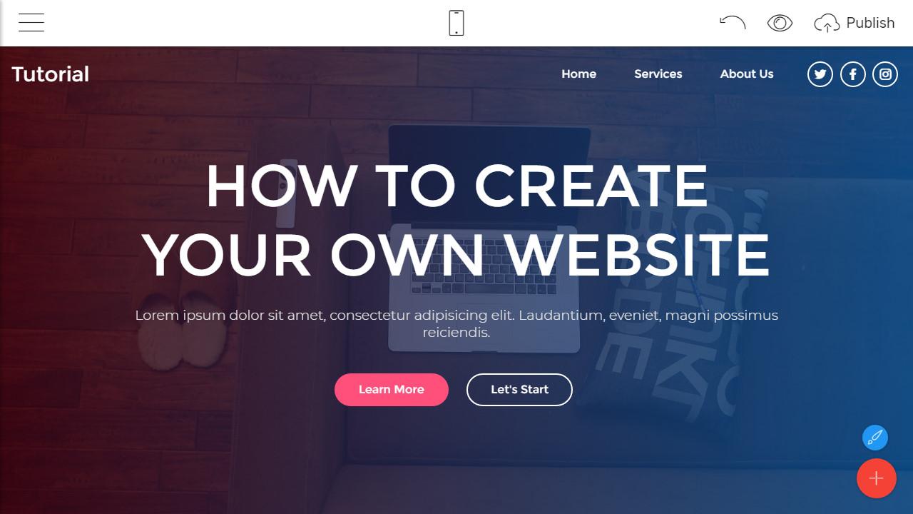 how to make a website free